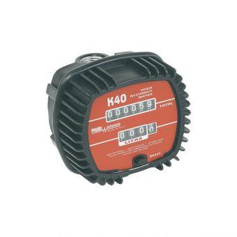 Compteur mécanique à engrenages pour huile 2000 mm2/s max, référence K40