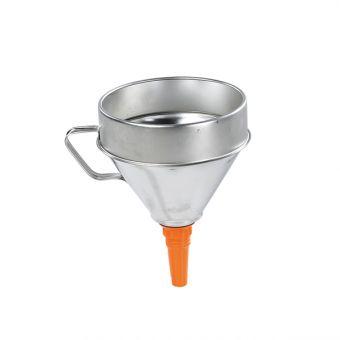 Entonnoir fer blanc, référence ENT334 pour transfert de liquide