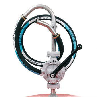 Pompe équipée tuyau UPE pour solvants agressifs non inflammables, référence FHL0POLY, FHL1POLY, FHL2POLY
