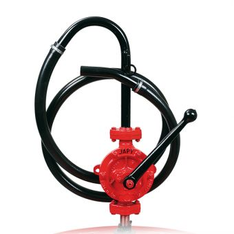 Pompe manuelle semi-rotative équipée tuyau pvc souple, référence FEP0, FEP1, FEP2, FEP3, FEP5